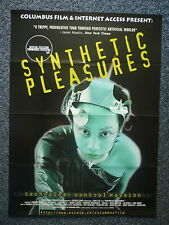 SYNTHETIC PLEASURES Drugs Original 1990s Movie Poster Timothy Leary