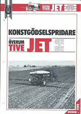 Farm Equipment Brochure - Overum - Tive Jet 4012 6012 Sprayer SWEDISH (F4887)