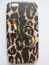 NWT Victoria's Secret iPhone 6 Hard Case VS Gold Leopard Print 2015