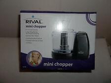 RIVAL MINI CHOPPER/BLENDER/PROCESSOR 1.5 CUP CAPACITY 35 WATT BLACK MC-67BL NIB