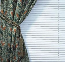 Jaipur Print Cotton Vegetable Dyed Tab Top Curtain Window Drape Panel Butterfly