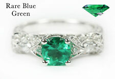 Top Quality AAA Colombian Emerald & Diamond Edwardian Engagement 14K 2.70Tcw