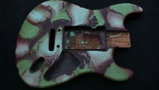 A Sample Of Painting Flow Series Stratocaster/Strat Style Body Ash Relic