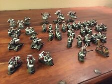 Warhammer 40k Space Marines - White Scars Bike Army - Pro Painted