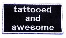 Tattooed and awesome patch badge tattoo pin up beard motorcycle biker