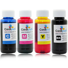 4 X100ml 4 Color Refill Ink For Epson Printers Ciss Systems