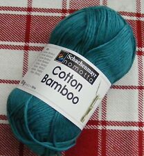 SMC Cotton Bamboo Yarn color #65 Petrol (Teal) 50g 120m New
