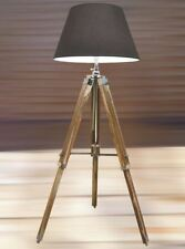 NAUTICAL TRIPOD STYLISH TEAK WOODEN  FLOOR LAMP, TRIPOD LAMP STAND!: