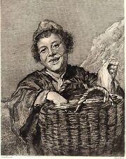 EAU FORTE 1860 / JEUNE PECHEUR DE SCHEVENINGUE Frans Hals 1584-1666