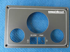 Engine Control Panels VDO for marine agriculture coated aluminum Panel Blank