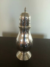 "LOVELY SILVER PLATED FOOTED SUGAR SHAKER (REGENTS PLATE) 7.5"" TALL"