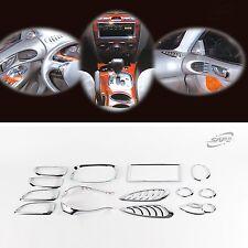 Chrome Interior molding Kit Trim Set 14pcs For Hyundai Santa Fe 01-06