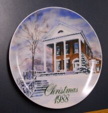 1988 SMUCKER'S COLLECTOR CHRISTMAS PLATE MARIETTA OHIO COLLEGE PRESIDENT HOME