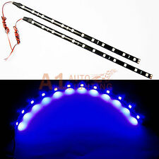 "2x NEW 30cm/12"" Blue LED Strip Footwell Under Dash Light Waterproof Exterior"