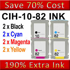 8NON-OEM Ink Cartridge Replace for Designjet 500 500 Plus 500ps 500ps Plus 10 82