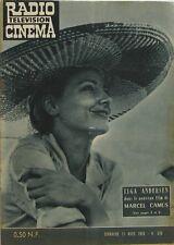 Radio Cinéma n°530 - 1960 - Elga Andersen - Poiret et Serrault - Marcel Camus -