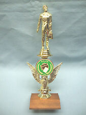 salesman trophy color riser solid wood base