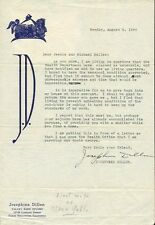 JOSEPHINE DILLON Signed Letter - First Wife Of Clark Gable