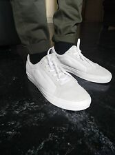 Vans Whitlock White/White Leather Men's Classic Skate Shoes SIZE 11