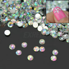 1000x Nail Art Conseils Bling Crystal Strass Manucure Décoration 2mm New