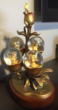 DISNEY TINKER BELL 4 FAIRIES GOLDEN TINK FAIRY LIGHT UP SNOW GLOBE LAMP