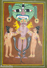 Mystrious Ik Paper Painting Artist Unique Tribak Art Antique Rare India_AR322