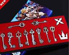 KINGDOM HEARTS - CAJA 12 LLAVES COLGANTES METAL 3-6cm / 12 METAL KEYBLADE BOX
