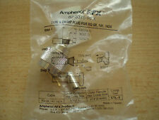 N type crimp plug for RG-58, 141, 142A made by Amphenol 82-5375-RFX        Z304