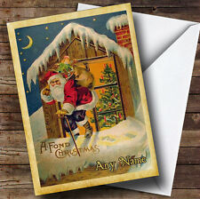 Traditional Vintage Look Personalised Christmas Card