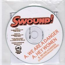 (GJ737) Swound!, We Are A Danger / Hey Women - 2009 DJ CD