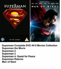 Superman Complete DVD Box Set All 6 Movies Part 1 2 3 4 Returns Man of Steel New
