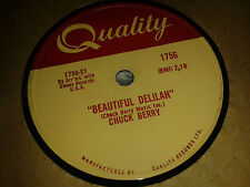 CHUCK BERRY  :  BEAUTIFUL DELILAH  /  VACATION TIME.   Canada 78rpm (1958)