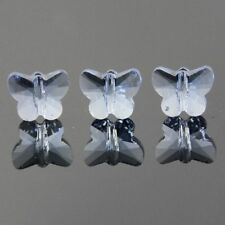 6pcs Swarovski  5x6x10mm Butterfly Crystal beads D Light-blue