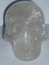 TESCHIO GIGANTE scultura cristalloterapia QUARZO IALINO statua esoterismo wicca