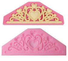 Big Crown Moulds Cooking tools Silicone Fondant Gum Paste Mold Cake Decorating