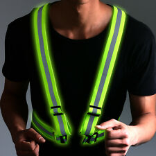 Reflective Vest Harness High Visibility Running Walking Cycling Safety Elastic