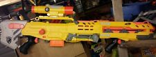Nerf N-Strike yellow Longshot CS-6 With Front Gun Pistol & scope lot#11