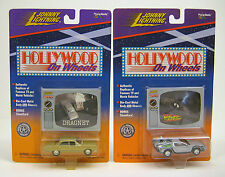 JOHNNY LIGHTNING Back To The Future Dragnet Hollywood On Wheels Lot of 2 DieCast