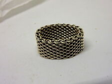 "Tiffany & Co. Sterling Silver ""Somerset"" Mesh Ring SZ 6.25"