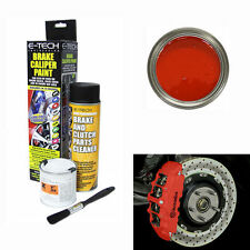 E-Tech Red Brake Caliper Paint Kit -Engine Bay Brakes Manifold Drum Metal Car