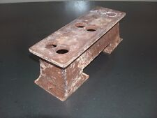 Vintage Steel Half 6x2 Chevy Intake Adapter Rat Rod for 3x2 Stromberg Carbs