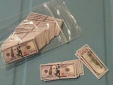 1/6 scale miniature money. Lot of 60 $100 bills! GI Joe Barbie! BOTW