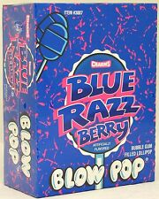 Blow Pop Blue Raspberry Pops Berry Suckers Candy Charms Bulk Candies Lollipops
