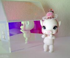 CCC Charles Creature Cabinet pOink Lil' pOtbellie Snow Pig BjD White Tiny Doll