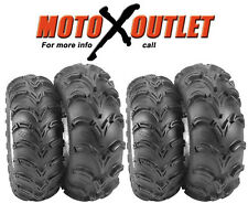 Set of 4 Tires Yamaha Atv Grizzly 700 ITP Mud Lite Front 25 8 12 Rear 25 10 12