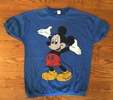 Vtg Disney Mickey Mouse T Shirt Sweatshirt Cotton Polyester Blend OSFA