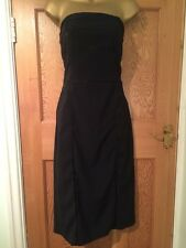 Stunning H & M Strapless Black Party Dress Size 42 Flattering Sexy