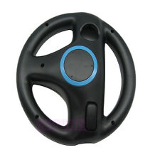 Black Racing Steering Remote Controller Wheel For Nintendo Wii Mario Kart Game