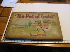 "1897 ""the pot of gold"" original Parker Brothers board game, COMPLETE but w wear"