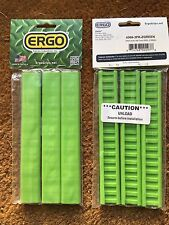 ERGO GRIPS PICATINNY SLIM LINE SMOOTH RAIL COVERS #4369 3 PACK ZOMBIE GREEN NEW